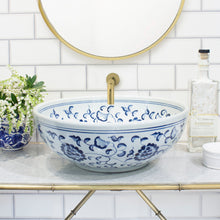 Decorative Sink - Blue and White Flowers #1 - Isabel Harris