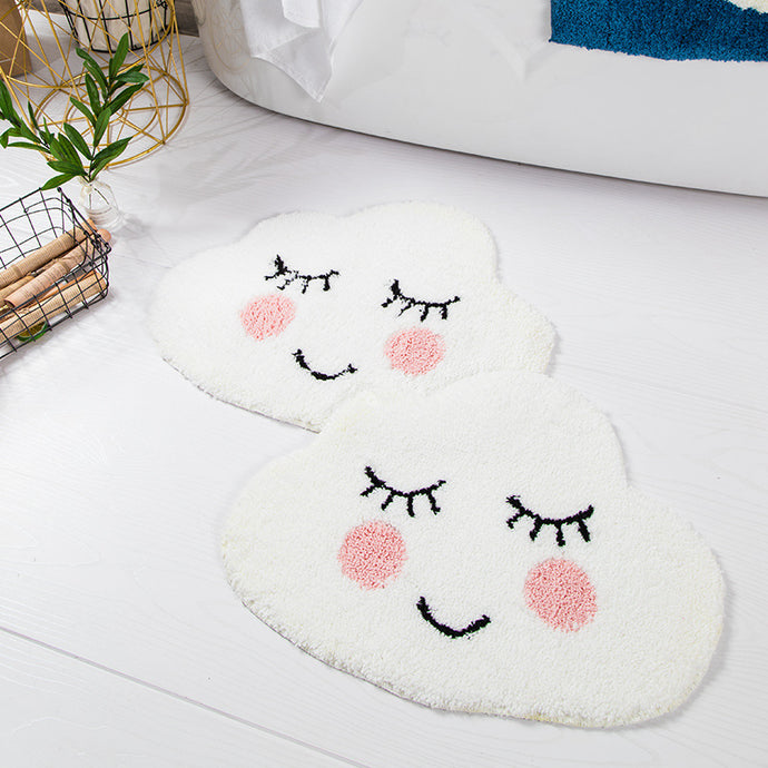 Bath Mat - Cloud Face - Isabel Harris