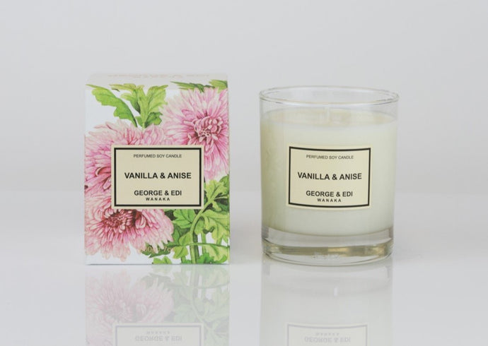 George and Edi Candle Vanilla Anise - Isabel Harris
