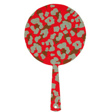 Hand mirror decorated timber - Cheetah Neon Pink - Isabel Harris