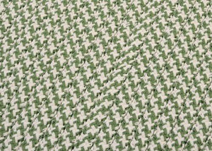 Outdoor Houndstooth Tweed Leaf Green OT68