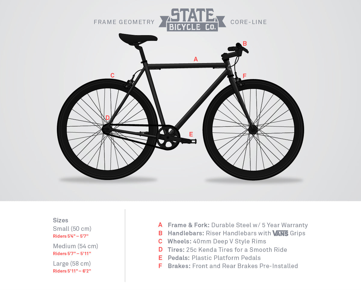 Pigeon - Asphalt Grey : Fixie & Fixed Gear Bikes | State Bicycle Co.