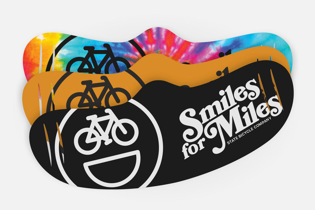 State Bicycle Co. - Smiles for Miles - Face Mask (3-pack)