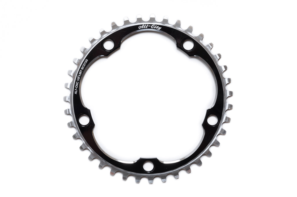 All-City 39T Black 612 Track Ring (130 BCD)