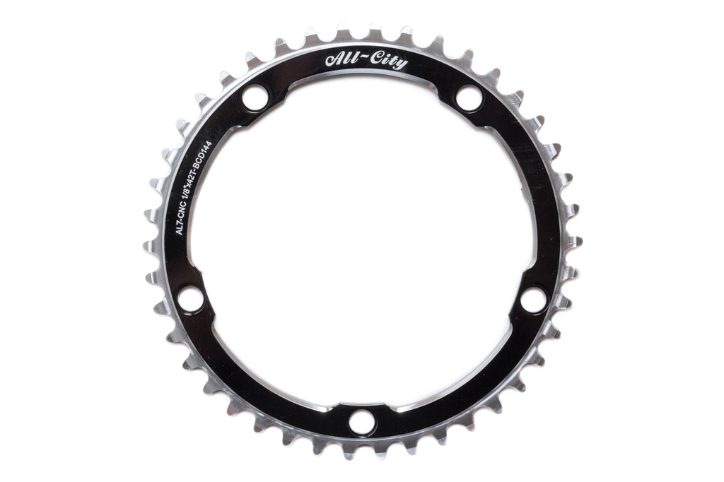 All-City 42T Black 612 Track Ring (144 BCD)