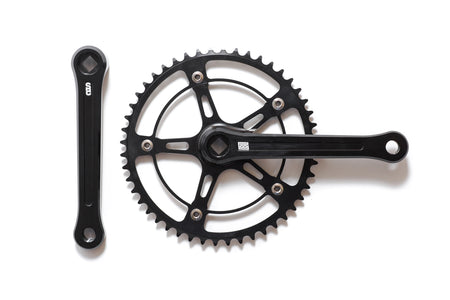 Black Label Series: Fixed Gear / Single Speed Crankset (Black)