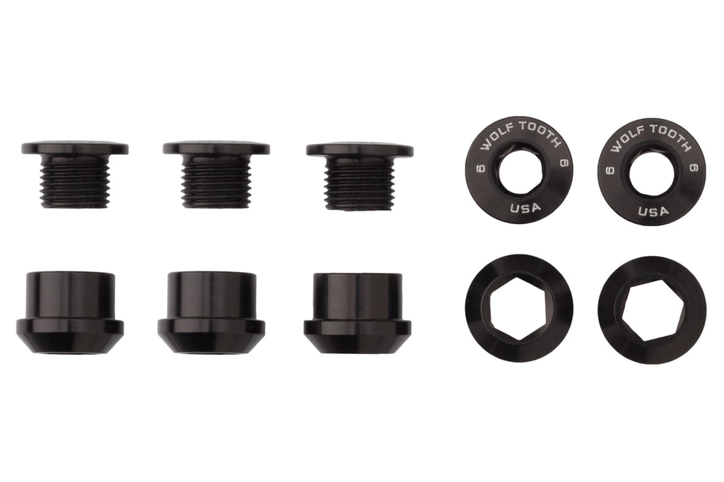 Set of 5 Chainring Bolts+Nuts for 1X by Wolf Tooth Components