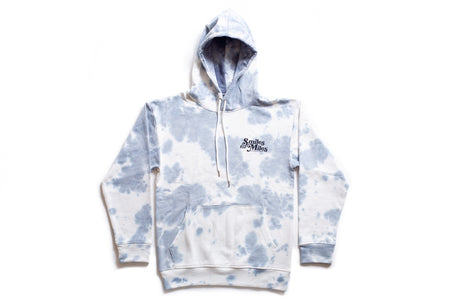 "State Bicycle Co. -""Smiles for Miles"" Blue-Gray Tie Dye Hoodie"