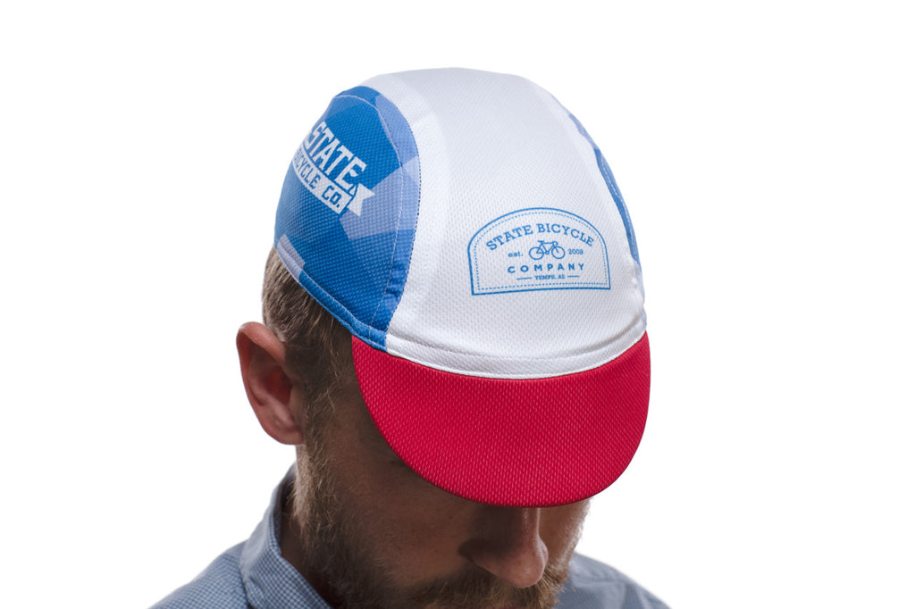 'State Bicycle Co.' Red / White / Blue Cap
