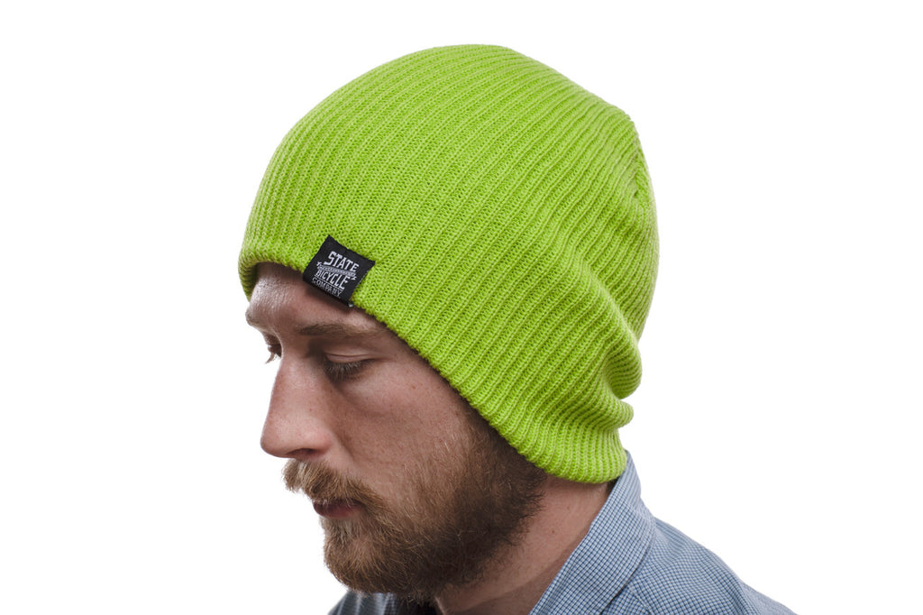 State Bicycle Co. - Riding Beanie - Chartreuse