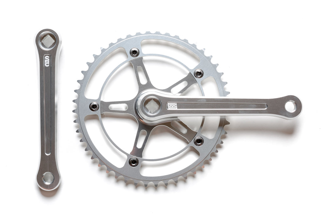 Black Label Series: Fixed Gear / Single Speed Crankset (Silver)