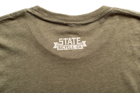 "State Bicycle Co. - ""Explore Your State"" - Premium T-Shirt (Olive)"