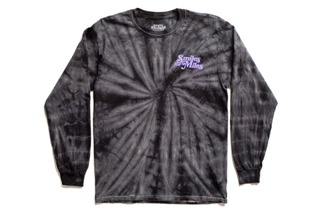 "State Bicycle Co. - ""Smiles for Miles"" - Long Sleeve T-Shirt (Black Tie-Dye)"