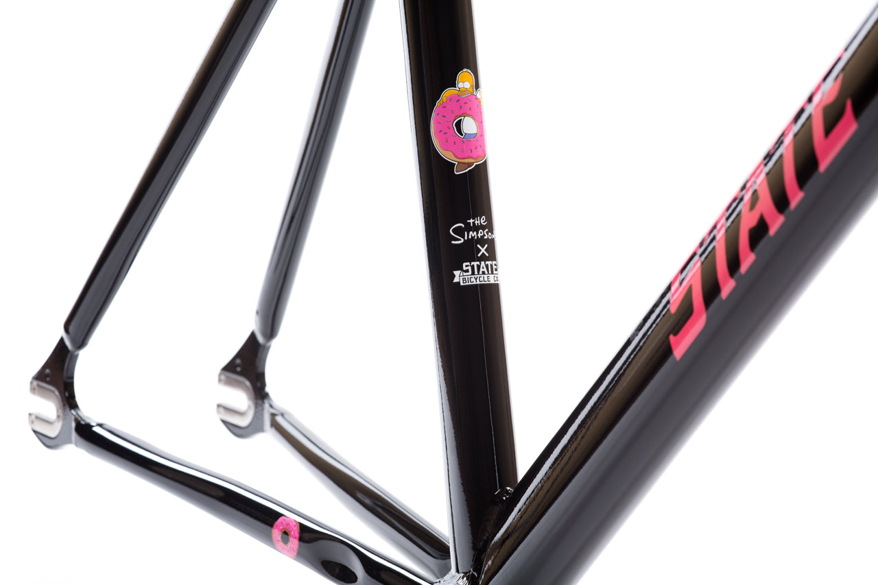 The Simpsons x State Bicycle Co - Donut Undefeated Frame   Fork Set. Watch  Video 09e8001d3