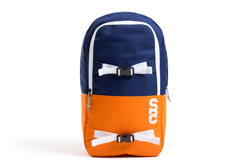 State Bicycle Co. Zip-up Backpack (Blue/Orange)