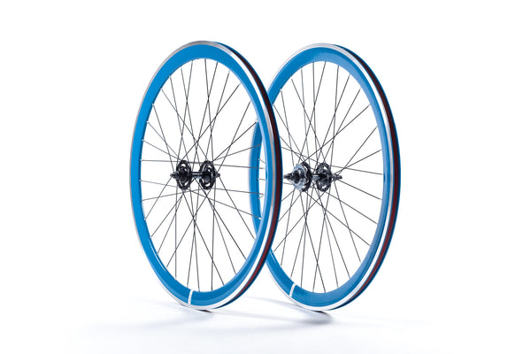 40mm Deep V White Wheel Set State Bicycle Co
