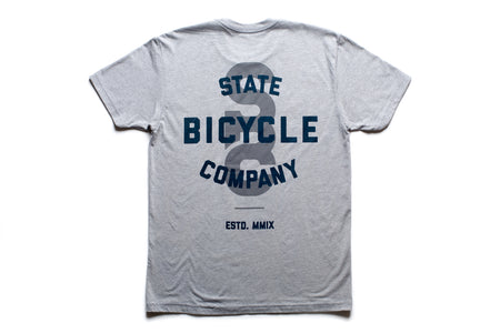 "State Bicycle Co. - ""STATE"" - Premium T-shirt (Gray & Navy)"
