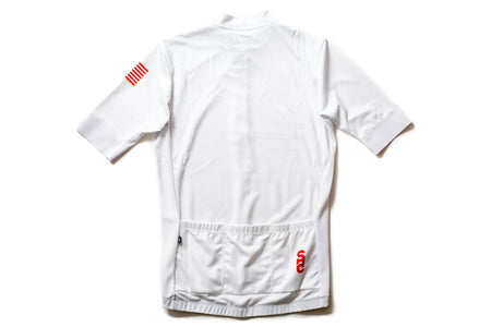 State Bicycle Co. - Astronaut Jersey- Sustainable Clothing Collection (White)