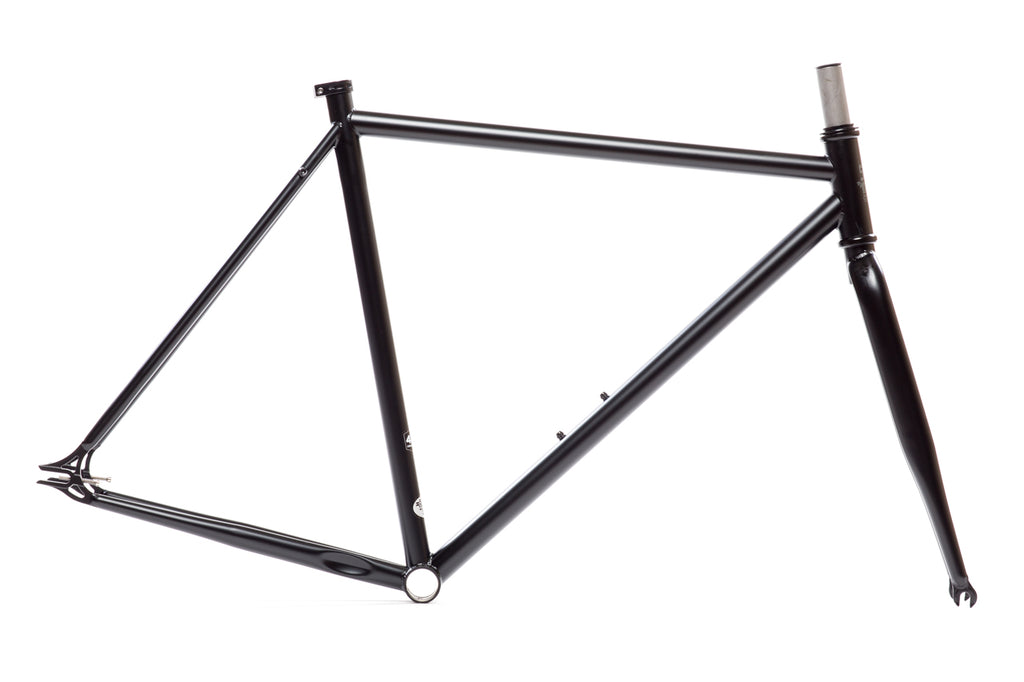 Matte Black Frame Set - Double Butted 4130 Chromoly Steel Tubing