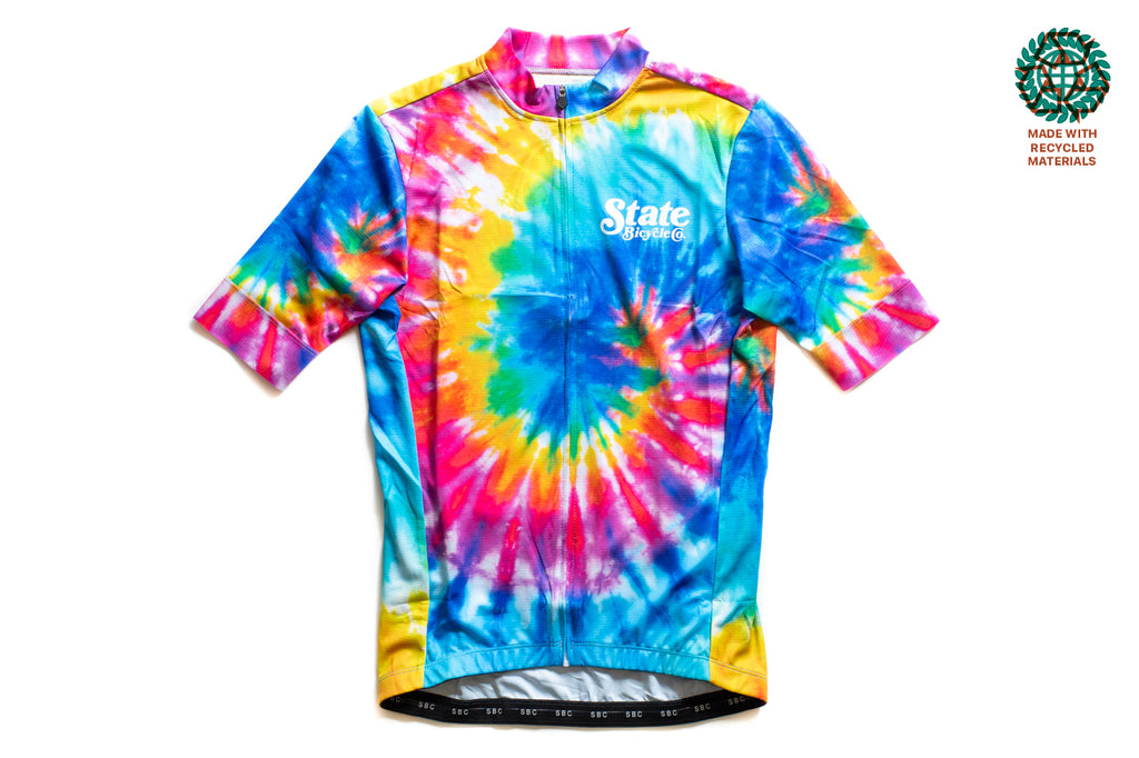 State Bicycle Co. - Peace Jersey  - Sustainable Clothing Collection (Tie-Dye)
