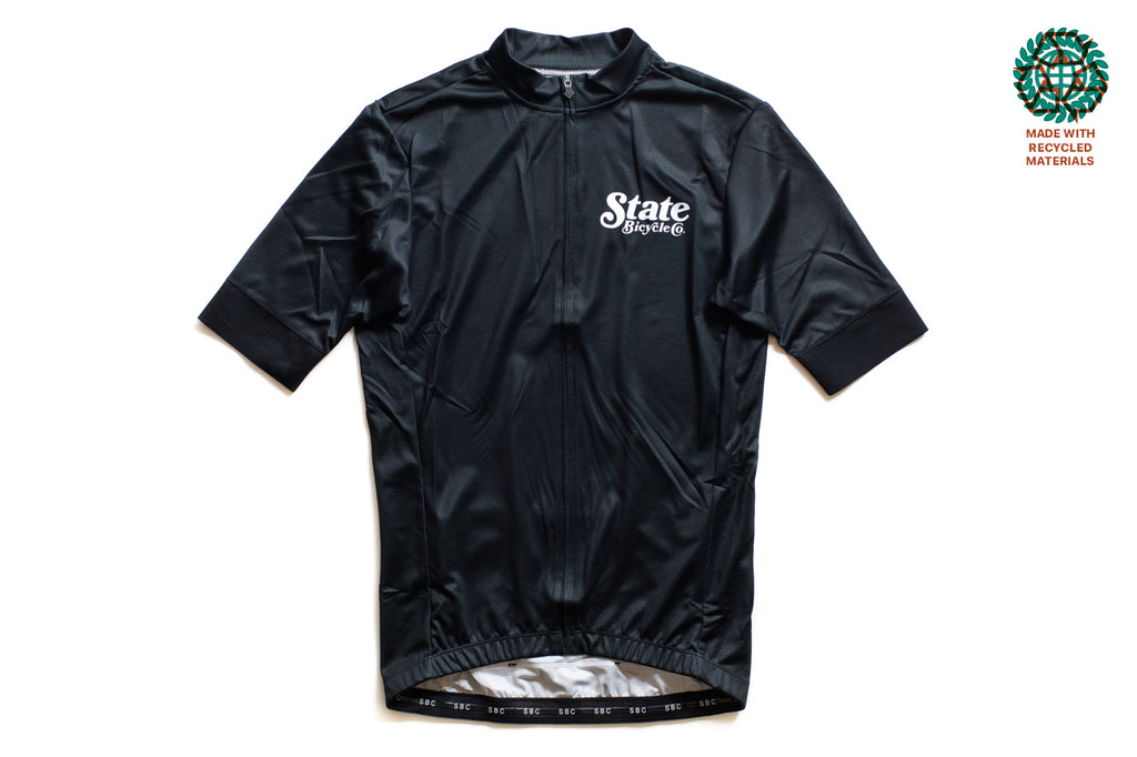 State Bicycle Co. - Peace Jersey  - Sustainable Clothing Collection (Black)