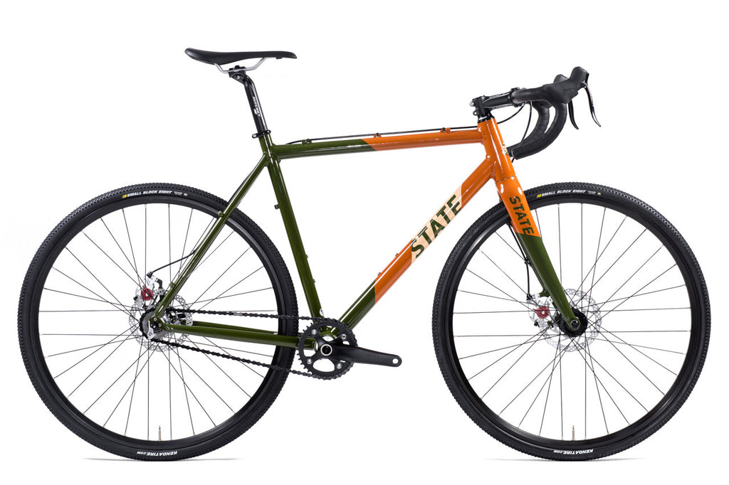 Thunderbird - Gravel / CycloCross Bike: Army & Burnt Orange