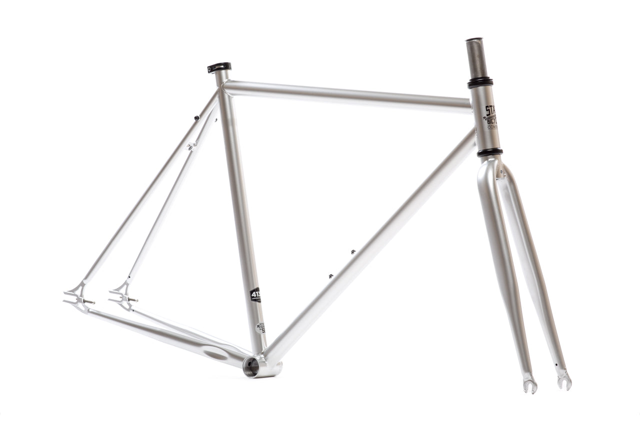 State Bicycle Co. | Silver Frame Set - Double Butted 4130 Chromoly ...