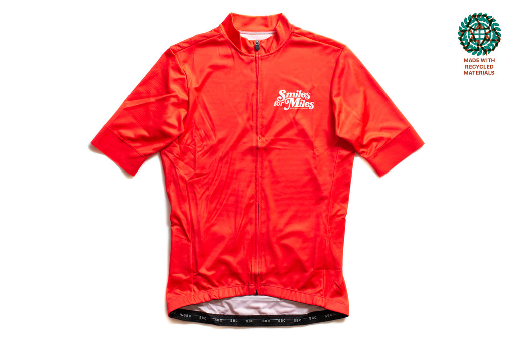 State Bicycle Co. - Smiles for Miles Jersey - Sustainable Clothing Collection (Red)