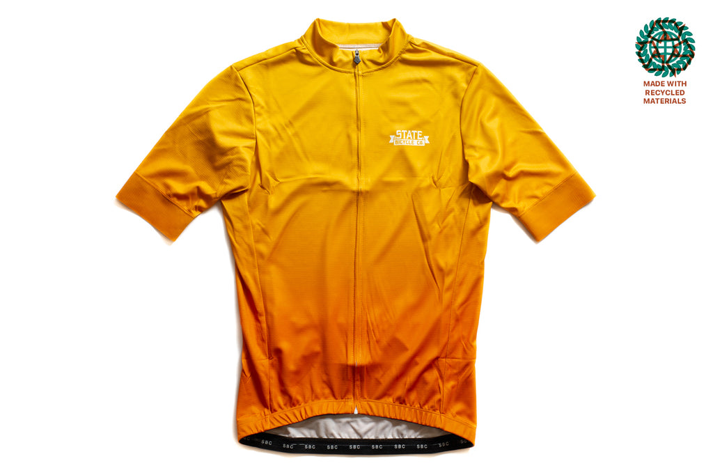 State Bicycle Co. - Sunrise Jersey  - Sustainable Clothing Collection (Orange)