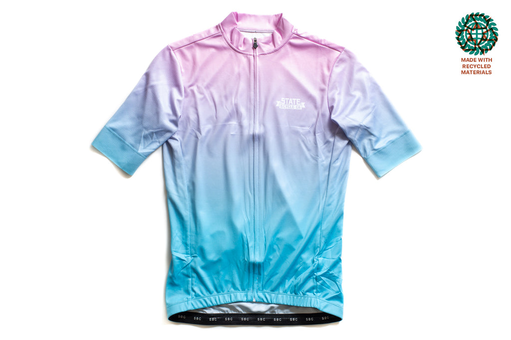State Bicycle Co. - Sunset Jersey  - Sustainable Clothing Collection (Blue)