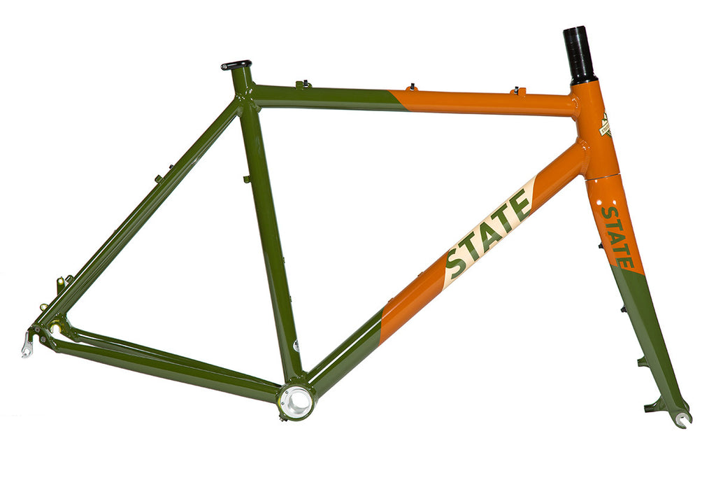 Thunderbird - Gravel / CycloCross Bike Frame + Fork: Army & Burnt Orange