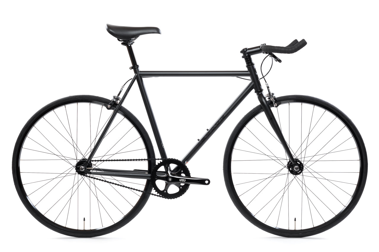 "Bike Frame Fixed-Gear 28/"" Fixed with Fork Black Steel"