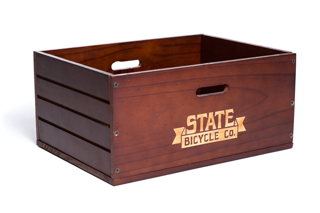 State Bicycle Co. - Wooden City Bike Crate - Rear