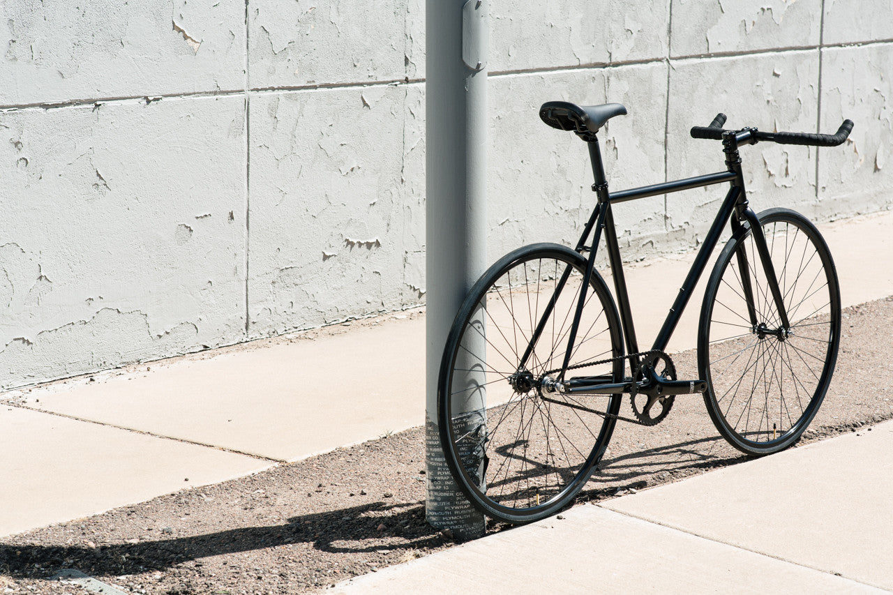 Matte Black 6 Bicycle Fixie Amp Fixed Gear Bikes State