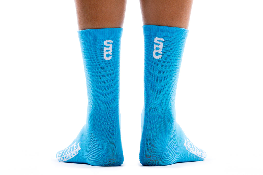 State Bicycle Co. - Black Label Cycling Sock - Laguna Blue