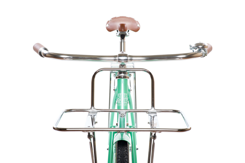 State Bicycle Co. Front Porteur Rack / Flat Rack - Silver