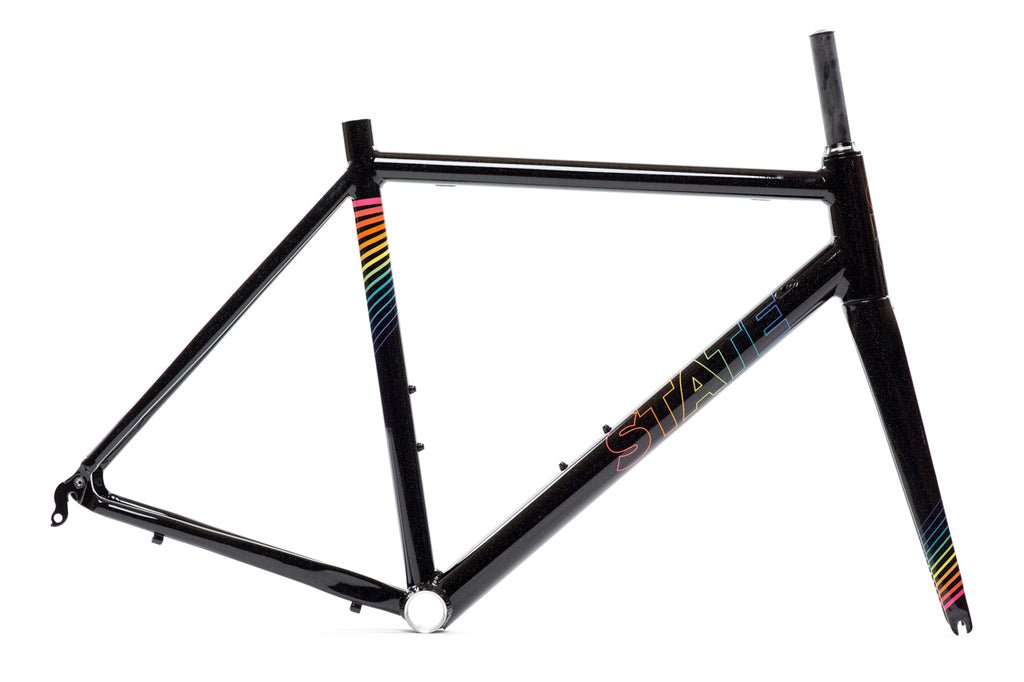 Undefeated Road Frame & Fork Set - Black Prism Edition