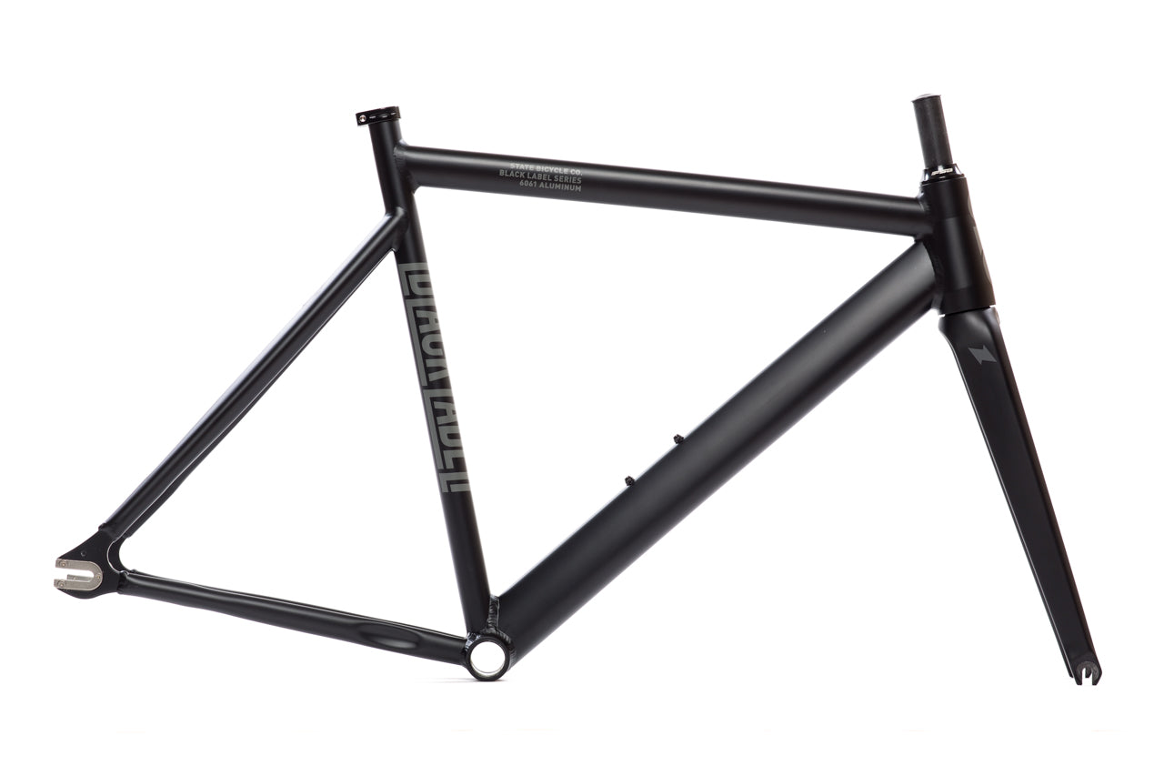 6061 Black Label v2 Frame Set - Matte Black : Track Bike Frames ...