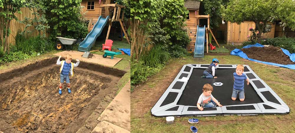 How to install and in-ground trampoline