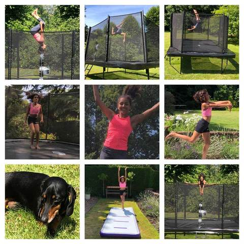 Trampolining at home