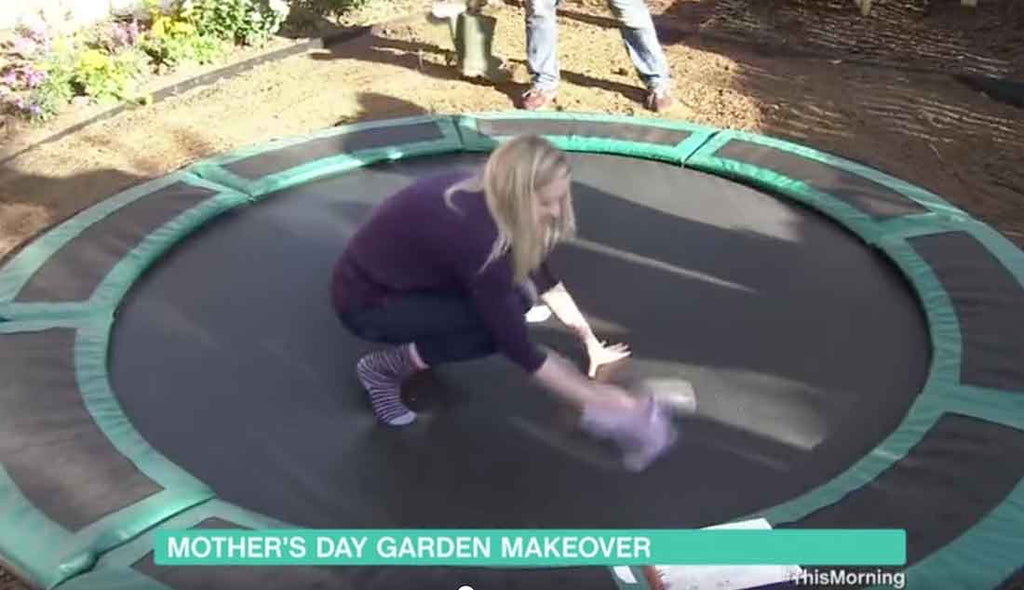 Cleaning in-ground trampoline