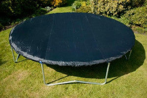 Trampoline with cover fitted.