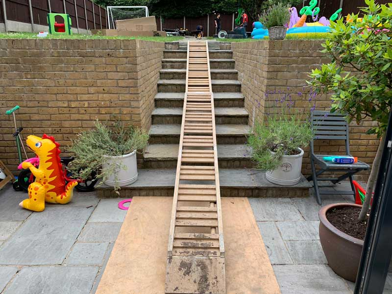 wheel barrow steps