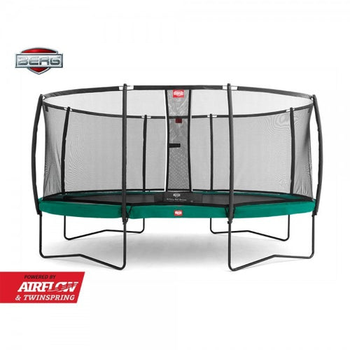 15ft x 10ft oval 15ft x 10ft BERG Grand Champion + Safety Net Deluxe Oval Trampoline 470