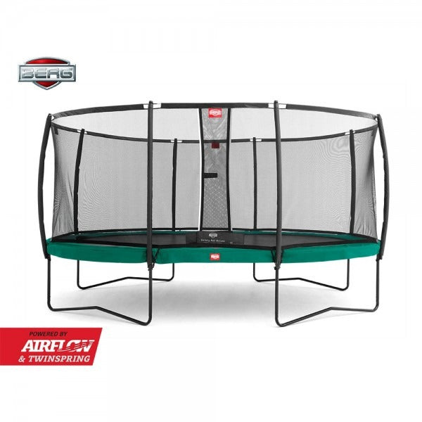 BERG + Safety Net Deluxe Oval Trampoline 15ft x 10ft