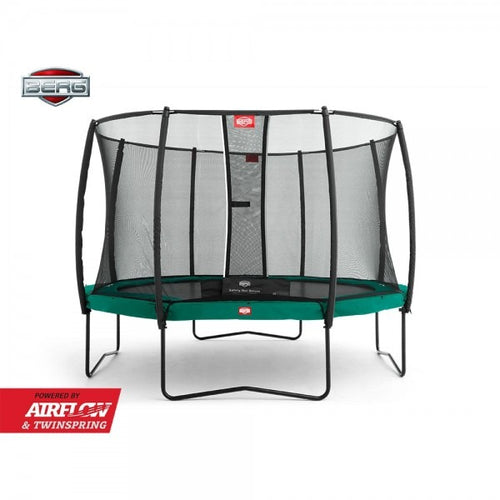 9ft round BERG Champion Trampoline + Safety Net Deluxe 270