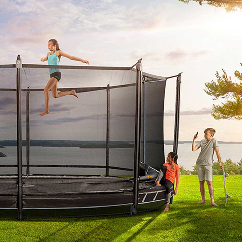 13.5ft x 9.5ft North Explorer Low Oval Trampoline