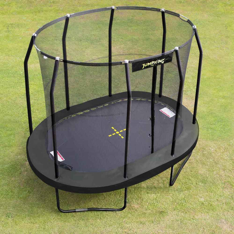 15ft x 10ft Jumpking Oval Trampoline on lawn