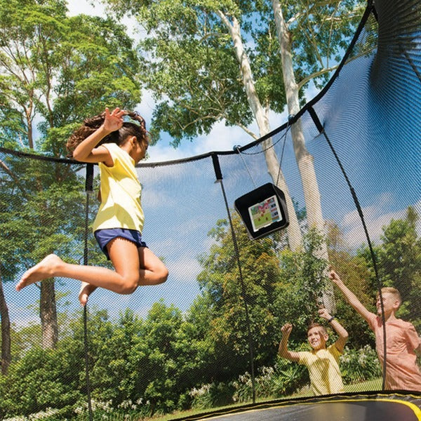 children playing on trampoline with tgoma®