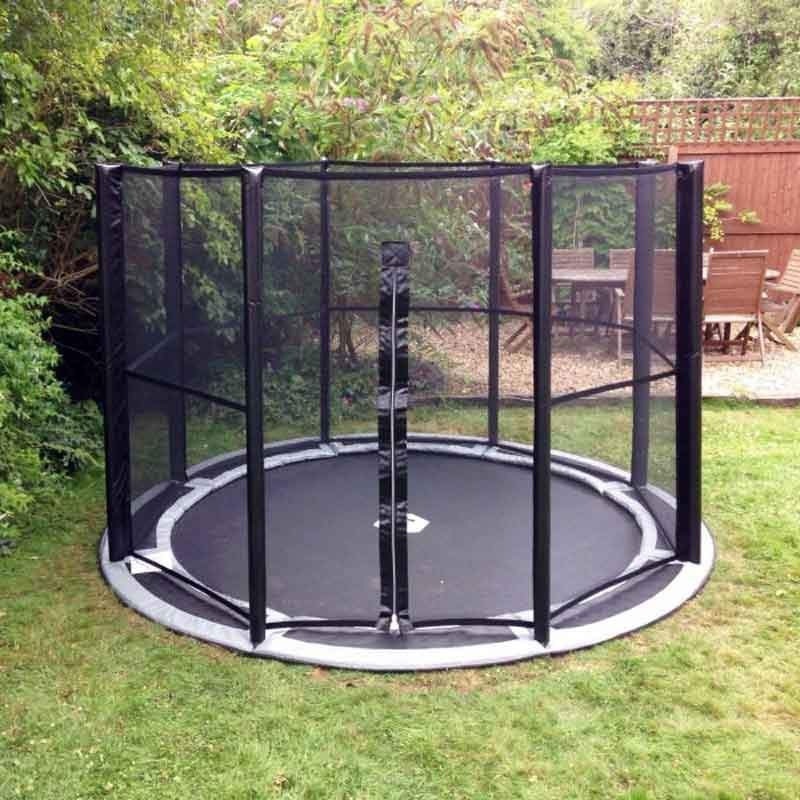 14ft In-ground Trampoline Full Safety Enclosure